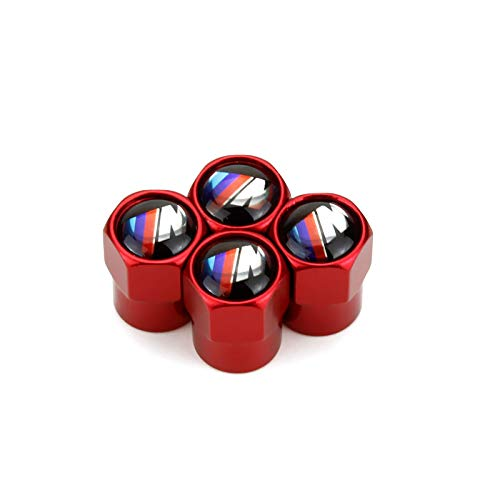 Truck Motorcycles JDclubs 4pcs Universal Metal Valve Caps Stem Cover Accessories with Logo Emblem Waterproof Dust-Proof Universal fit for Cars fit BMW SUV