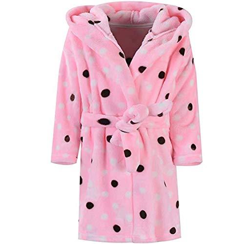 Toddler Kids Hooded Robes Soft Plush Fleece Pajamas Sleepwear for Boys /& Girls Boys Bathrobes