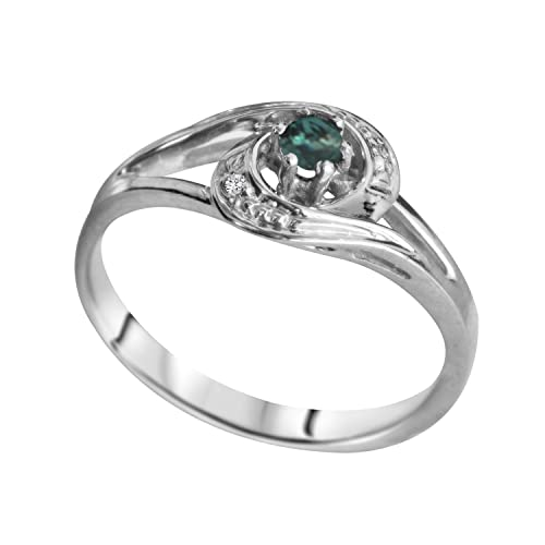 Designed By Ellen Natural Alexandrite Diamond Ring In 14k Gold Buy Products Online With Ubuy Tunisia In Affordable Prices B07jhxbccl