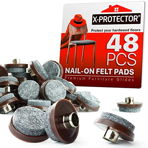 Nail On Felt Pads X Protector 48, Best Pads For Furniture Feet