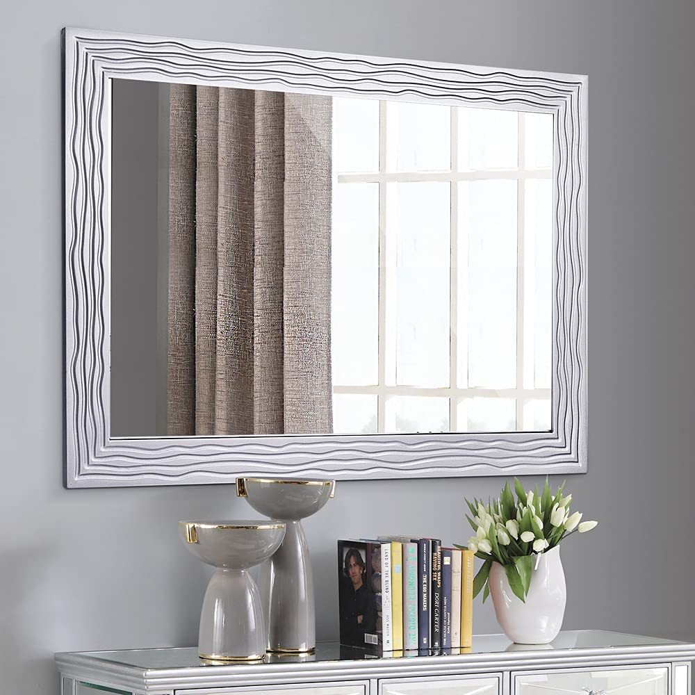 Wall Decor Rectangle Wood Mirror, Dining Room Wall Mirror
