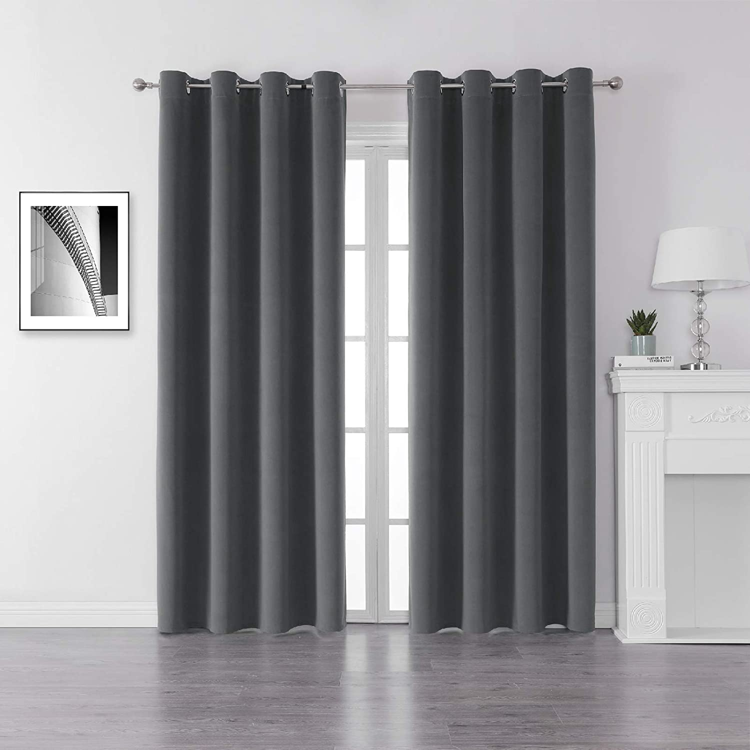 Blackout White Curtains D For