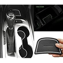 14pcs//Set, Black Auovo Anti Dust Door Mats for Toyota Highlander 2019 2018 2017 2016 2015 2014 Interior Accessories Custom Fit Door Compartment Cup Center Console Liners